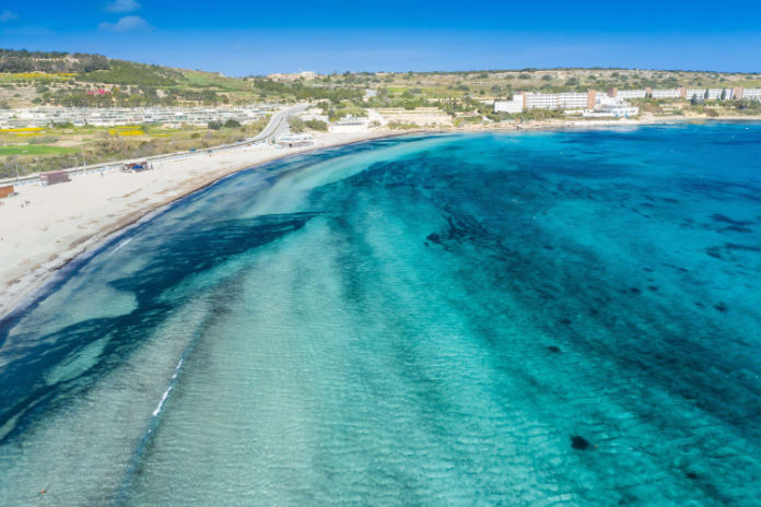 Relax on one of Malta's beautiful beaches