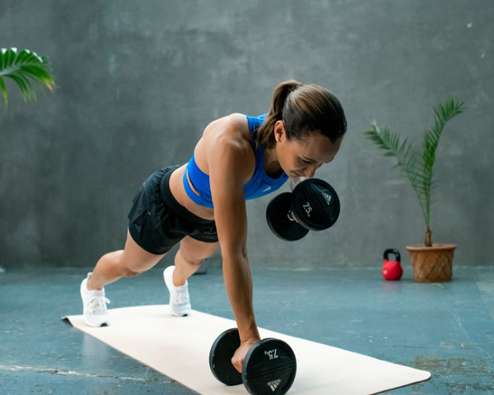 Period power exercise with weights
