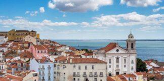 Lisbon skyline.