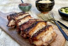 Jack Monroe's spicy pork belly with prune chutney