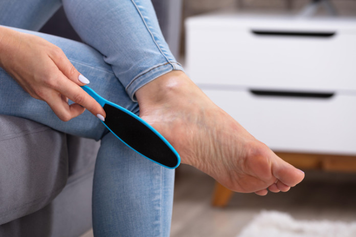 Use a foot file to prep your feet for summer