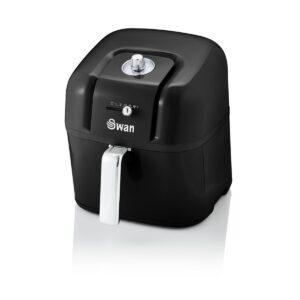 Swan SD10510BN 6L Retro Manual Air Fryer - Black