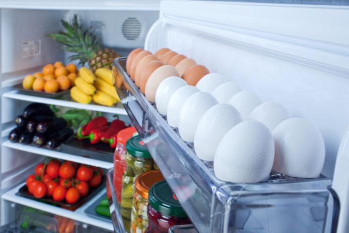 """Food ,vegetable and beverage in refrigerator"""
