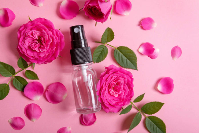 natural skincare rose mist