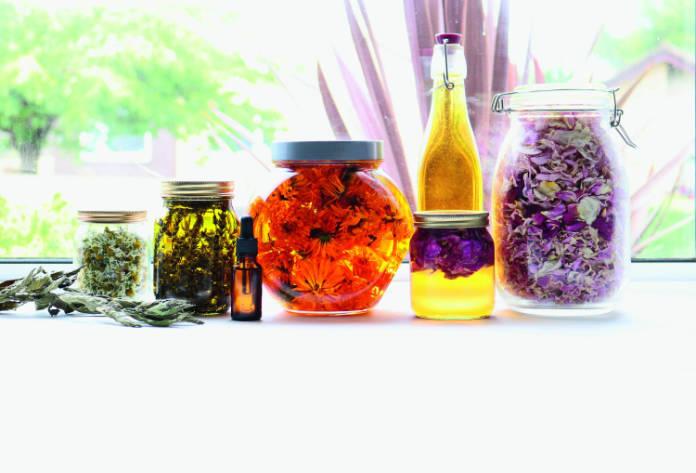 Herbal oils natural skincare