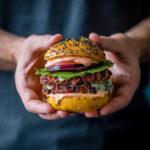 Beet burgers recipe with sweet potato buns
