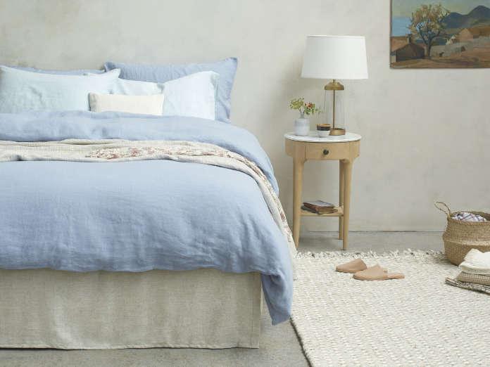 Lazy Linen in Cornflower Blue – Pair of Pillowcases