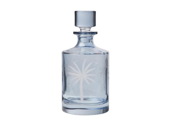 Palma Blue Glass Decanter