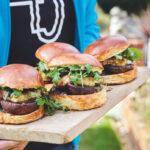 Umami mushroom and halloumi burgers