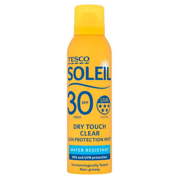 Tesco Soleil Dry Touch Sun Protection Mist Spf 50 200Ml-jpg
