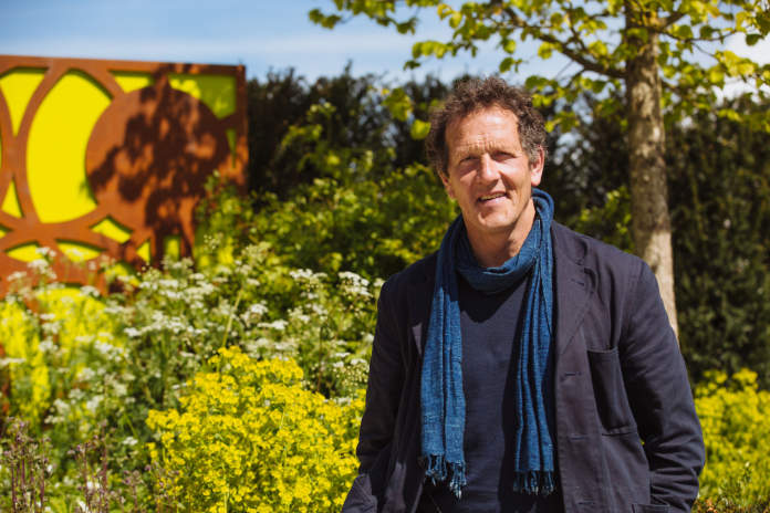 Monty Don in front of a wild lawn