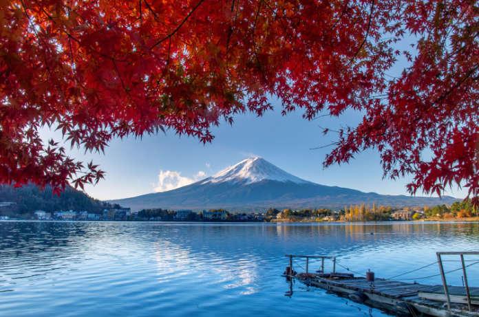 An image of Lake Kawaguchiko