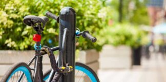 A bike equipped with cycle gadgets
