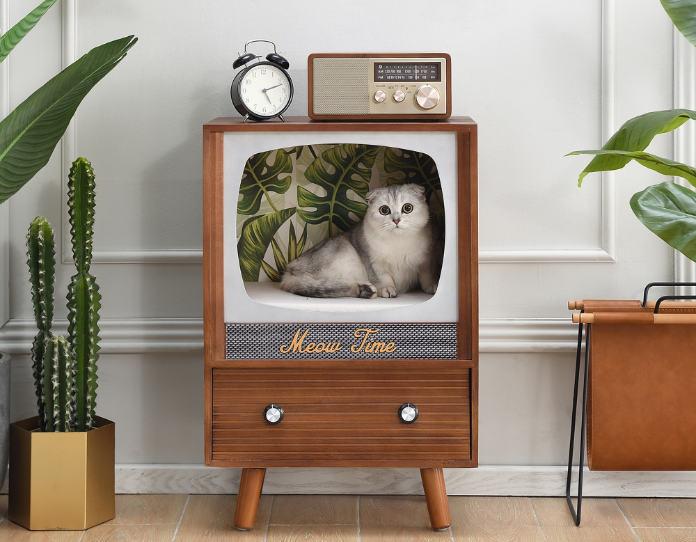Vintage Style TV Cat Condo