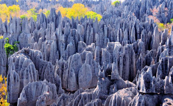 Tsingy de Bemaraha famous rock formations