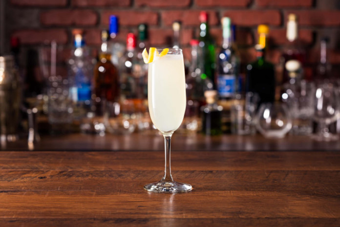 The French 75 gin cocktails