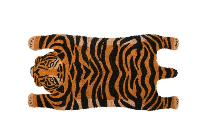 home gift of a tiger doormat