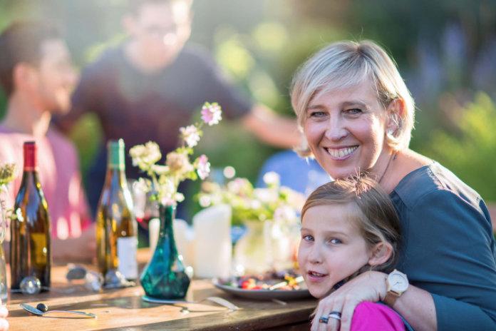 Garden insurance: A women with a child