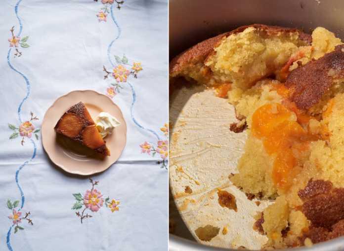 Italian desserts apricot cake