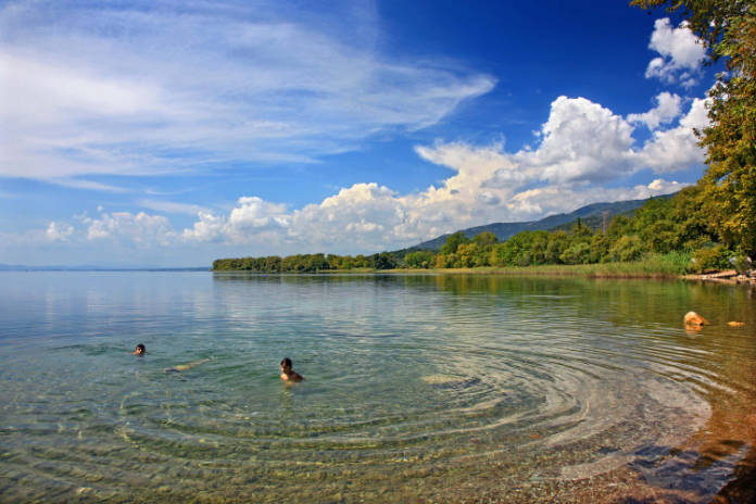 Swimming safety in open lake