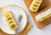 Vegan Kiwi Cashew Slices