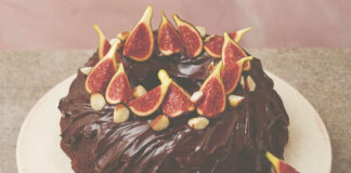 Candice Brown's fig and brazil nut chocolate mud cake