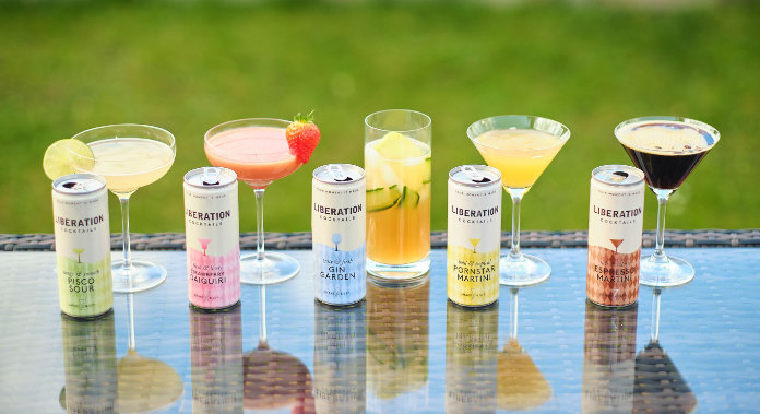 A photo of five Liberation Cocktails