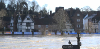 A landscape of a flood, what to do in case of flood