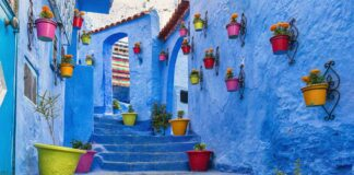 An image of one of the world's most amazing streets, a blue street