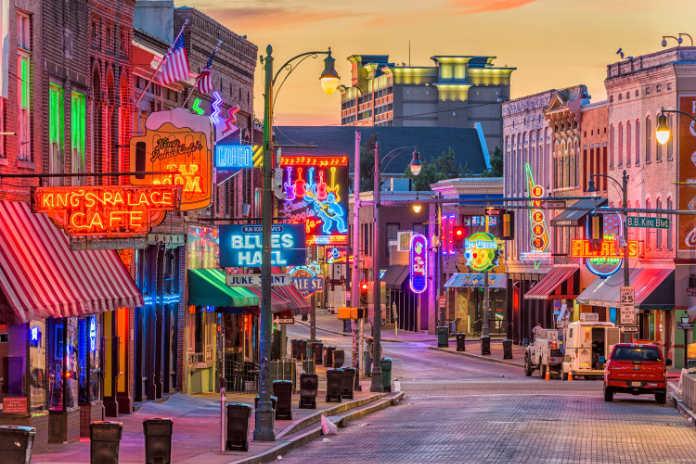 Beale Street, Memphis, USA
