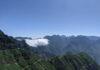 The landscape of Madeira, mountainous