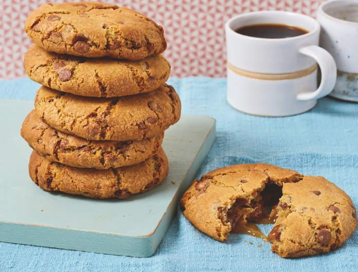 Salted caramel-stuffed NYC cookie