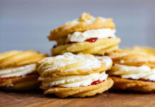 Traditional home-baked Viennese whirls