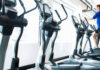 Gym anxiety- Man running on exercise machine in gym