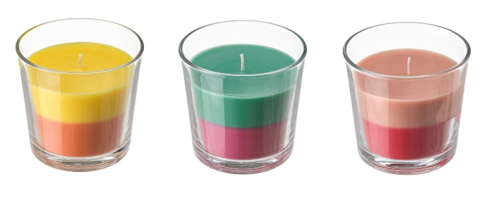 Instagram candles- Ikea Fortga Scented Candles in Glass