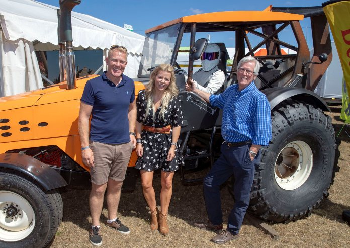 John Craven with fellow Countryfile hosts Ellie Harrison and Adam Henson in 2018