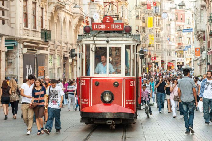 Most beautiful trams in the world- tram in Instanbul, Turkey