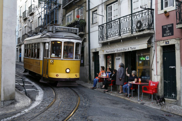 Most beautiful trams in the world- A tram in Lisbon