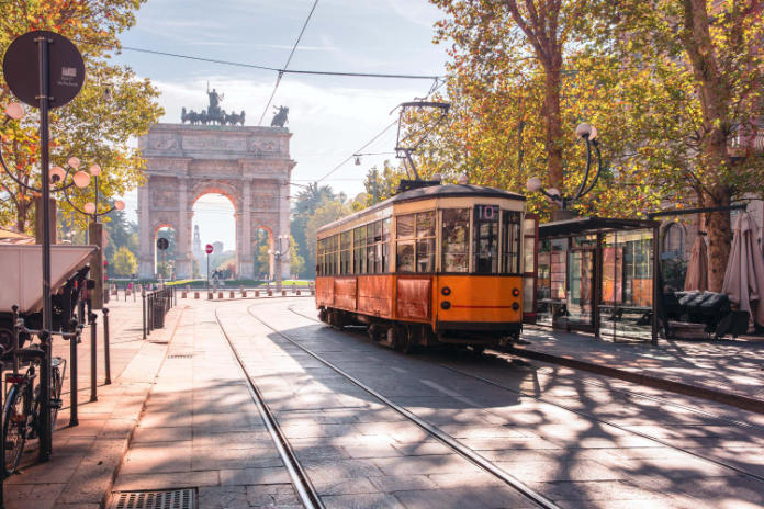 Most beautiful trams in the world- Milan, Italy