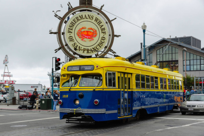 Most beautiful trams in the world- San Francisco tram