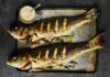 Barbecued whole seabass with fennel mayonnaise