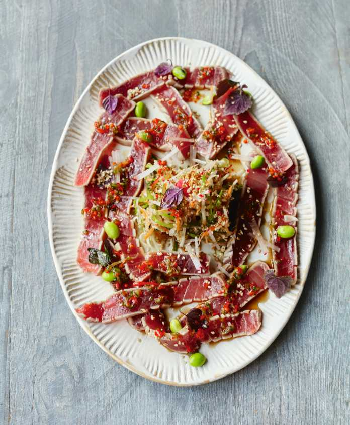 Elegant tuna carpaccio from Together by Jamie Oliver