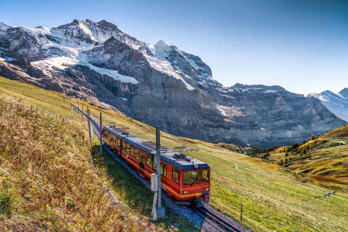 Eco travel Europe on a Swiss railway