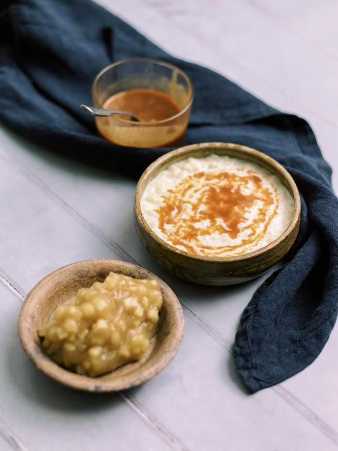 Rice pudding with apple from Root by Rob Howell