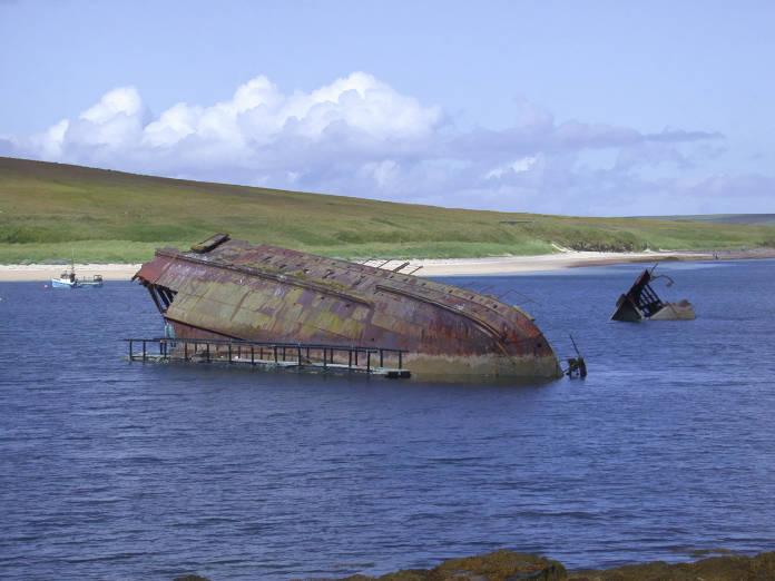 Orkney Islands ship wreak