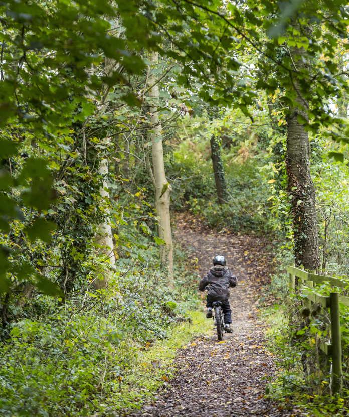 Cycling at Calke Abbey, Derbyshire